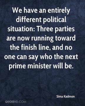 Sima Kadmon  - We have an entirely different political situation: Three parties are now running toward the finish line, and no one can say who the next prime minister will be.