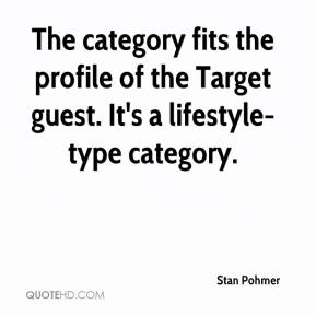 The category fits the profile of the Target guest. It's a lifestyle-type category.