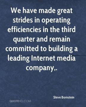 Steve Bornstein  - We have made great strides in operating efficiencies in the third quarter and remain committed to building a leading Internet media company.