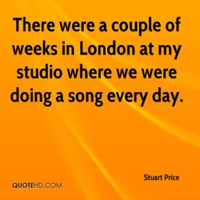 Stuart Price  - There were a couple of weeks in London at my studio where we were doing a song every day.