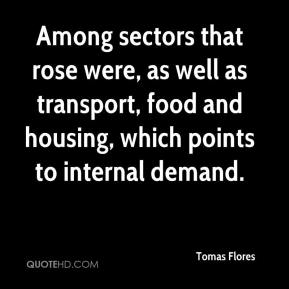 Tomas Flores  - Among sectors that rose were, as well as transport, food and housing, which points to internal demand.