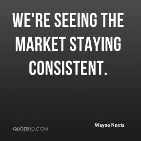 Wayne Norris  - We're seeing the market staying consistent.