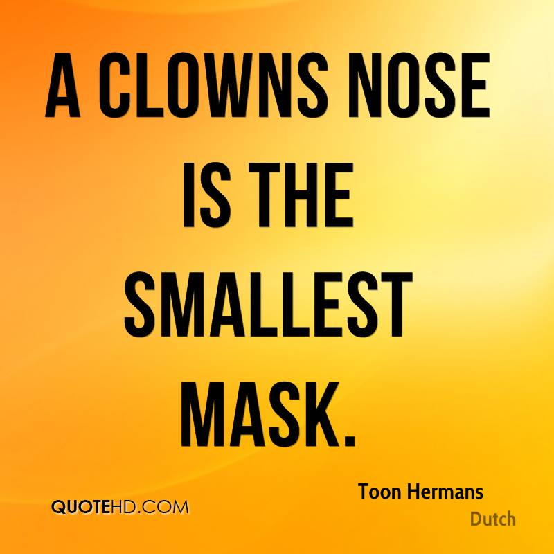A clowns nose is the smallest mask.
