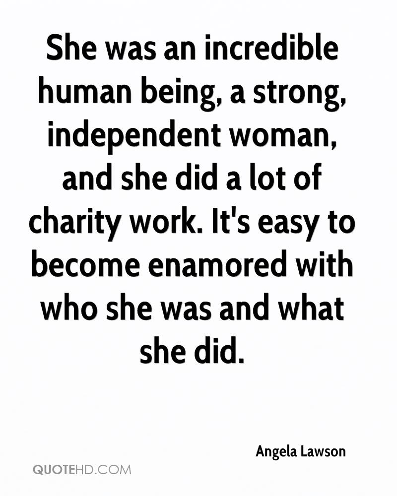 Quotes About An Independent Woman: Angela Lawson Quotes