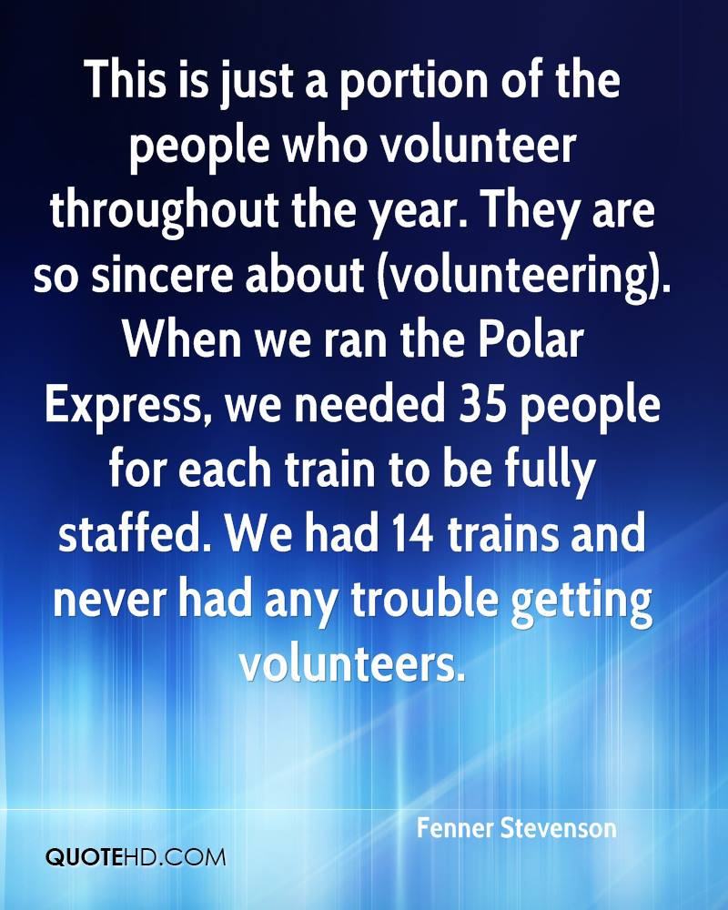Quotes On Volunteering Fenner Stevenson Quotes  Quotehd