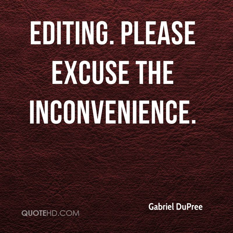 Editing. Please excuse the inconvenience.