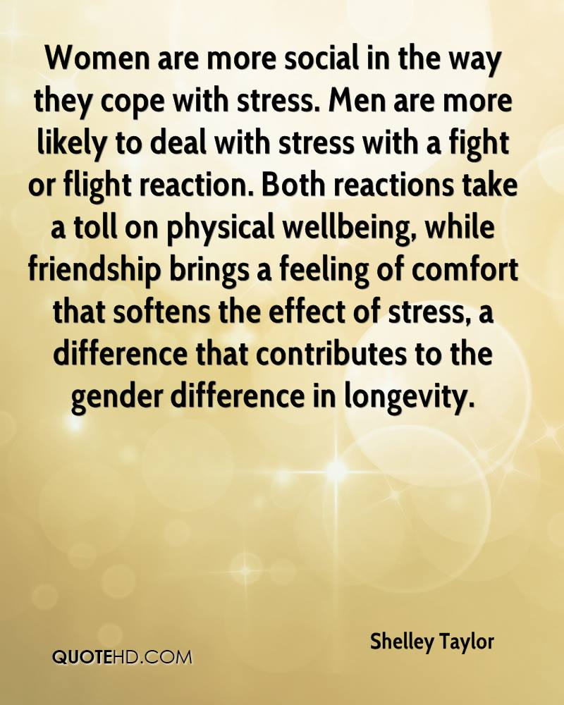 Stress Quote Shelley Taylor Friendship Quotes  Quotehd