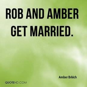 Amber Brkich - Rob and Amber Get Married.