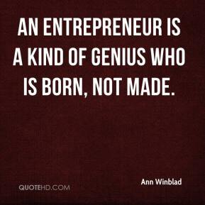 entrepreneur is born not made