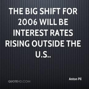 Anton Pil - The big shift for 2006 will be interest rates rising outside the U.S..