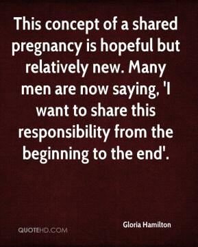 This concept of a shared pregnancy is hopeful but relatively new. Many men are now saying, 'I want to share this responsibility from the beginning to the end'.