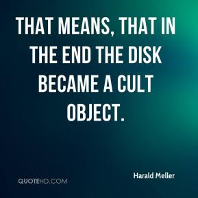 Harald Meller - That means, that in the end the disk became a cult object.