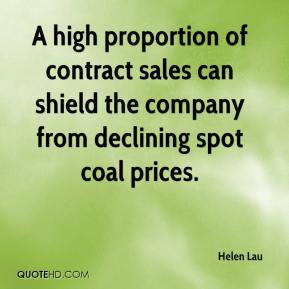 Helen Lau - A high proportion of contract sales can shield the company from declining spot coal prices.