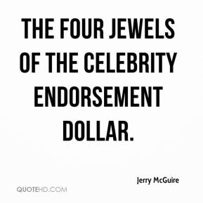 """the four jewels of the celebrity endorsement dollar."""
