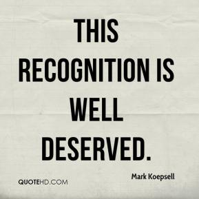 Image result for deserved recognition