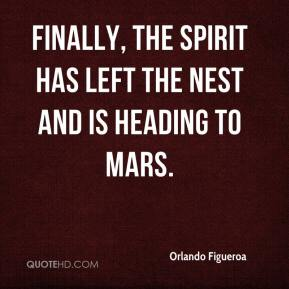 Finally, the Spirit has left the nest and is heading to Mars.