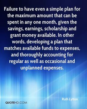 Ruth Lytton  - Failure to have even a simple plan for the maximum amount that can be spent in any one month, given the savings, earnings, scholarship and grant money available. In other words, developing a plan that matches available funds to expenses, and thoroughly accounting for regular as well as occasional and unplanned expenses.