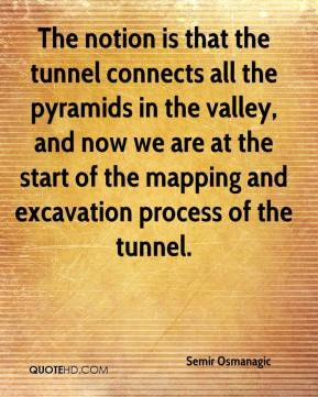Semir Osmanagic  - The notion is that the tunnel connects all the pyramids in the valley, and now we are at the start of the mapping and excavation process of the tunnel.