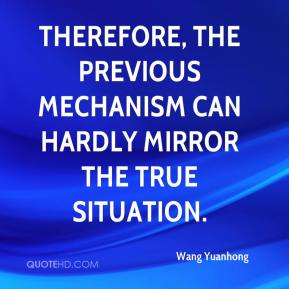 Wang Yuanhong  - Therefore, the previous mechanism can hardly mirror the true situation.