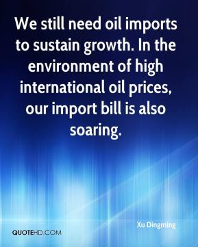 Xu Dingming  - We still need oil imports to sustain growth. In the environment of high international oil prices, our import bill is also soaring.