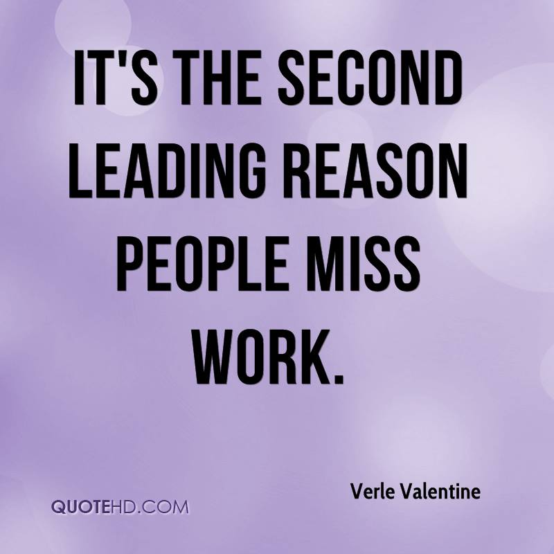 It's the second leading reason people miss work.