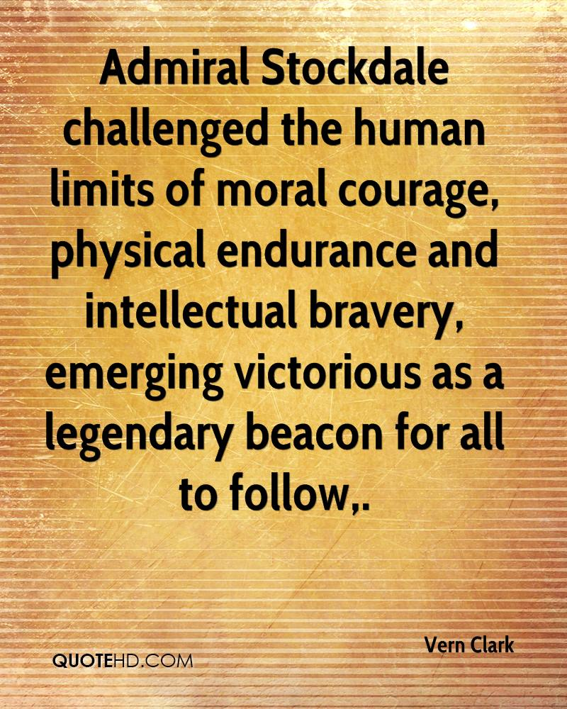 Admiral Stockdale challenged the human limits of moral courage, physical endurance and intellectual bravery, emerging victorious as a legendary beacon for all to follow.