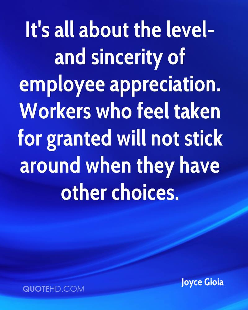 Employee Appreciation Quotes Joyce Gioia Quotes  Quotehd