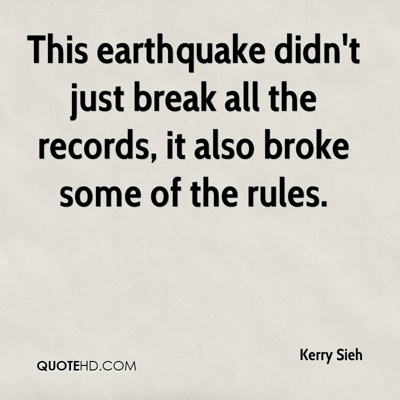 This earthquake didn't just break all the records, it also broke some of the rules.