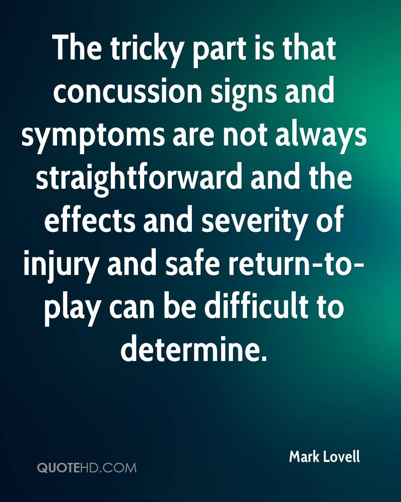 Concussion Quotes Mark Lovell Quotes  Quotehd