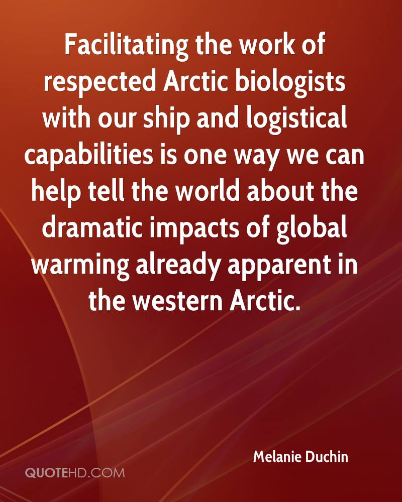 Facilitating the work of respected Arctic biologists with our ship and logistical capabilities is one way we can help tell the world about the dramatic impacts of global warming already apparent in the western Arctic.