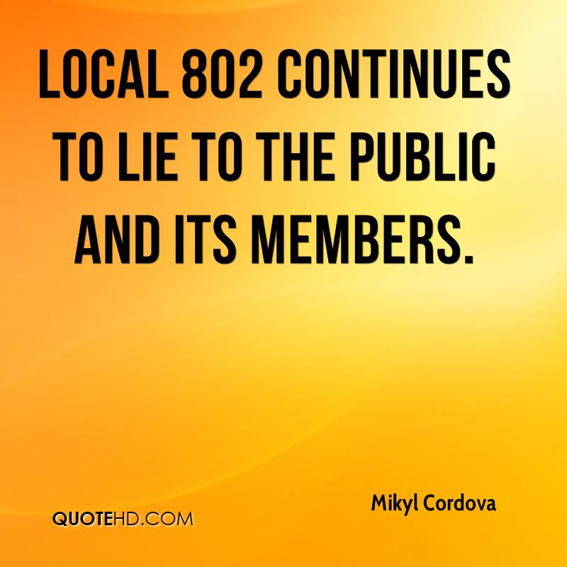 Local 802 continues to lie to the public and its members.