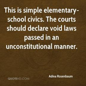 Adina Rosenbaum - This is simple elementary-school civics. The courts should declare void laws passed in an unconstitutional manner.