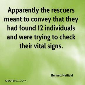 Bennett Hatfield - Apparently the rescuers meant to convey that they had found 12 individuals and were trying to check their vital signs.