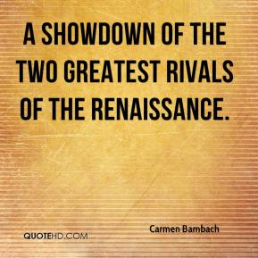 Carmen Bambach - A showdown of the two greatest rivals of the Renaissance.
