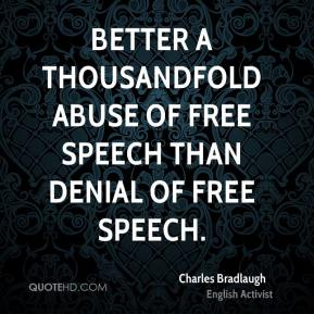 Charles bradlaugh censorship and hiding the truth