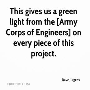 Dave Jurgens - This gives us a green light from the [Army Corps of Engineers] on every piece of this project.