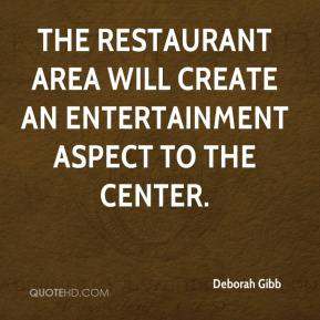 The restaurant area will create an entertainment aspect to the center.