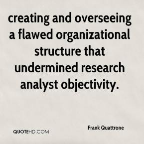 Frank Quattrone - creating and overseeing a flawed organizational structure that undermined research analyst objectivity.