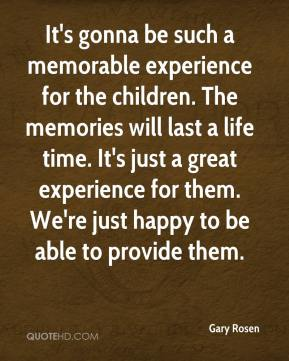 a memorable childhood experience
