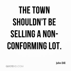 The town shouldn't be selling a non-conforming lot.