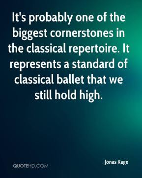 It's probably one of the biggest cornerstones in the classical repertoire. It represents a standard of classical ballet that we still hold high.