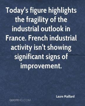 Laure Maillard  - Today's figure highlights the fragility of the industrial outlook in France. French industrial activity isn't showing significant signs of improvement.