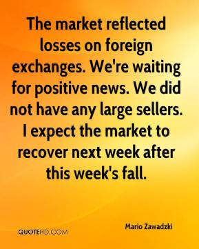 Mario Zawadzki  - The market reflected losses on foreign exchanges. We're waiting for positive news. We did not have any large sellers. I expect the market to recover next week after this week's fall.