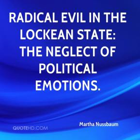 Radical Evil in the Lockean State: The Neglect of Political Emotions.