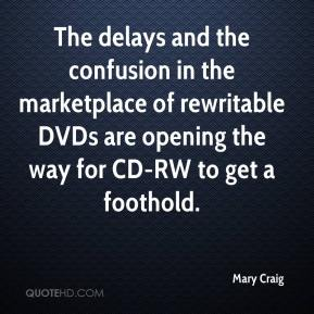 Mary Craig  - The delays and the confusion in the marketplace of rewritable DVDs are opening the way for CD-RW to get a foothold.