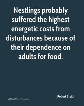 Robert Steidl  - Nestlings probably suffered the highest energetic costs from disturbances because of their dependence on adults for food.