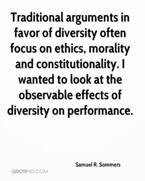 Samuel R. Sommers  - Traditional arguments in favor of diversity often focus on ethics, morality and constitutionality. I wanted to look at the observable effects of diversity on performance.