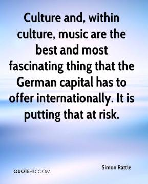 Culture and, within culture, music are the best and most fascinating thing that the German capital has to offer internationally. It is putting that at risk.