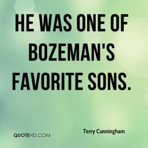 He was one of Bozeman's favorite sons.