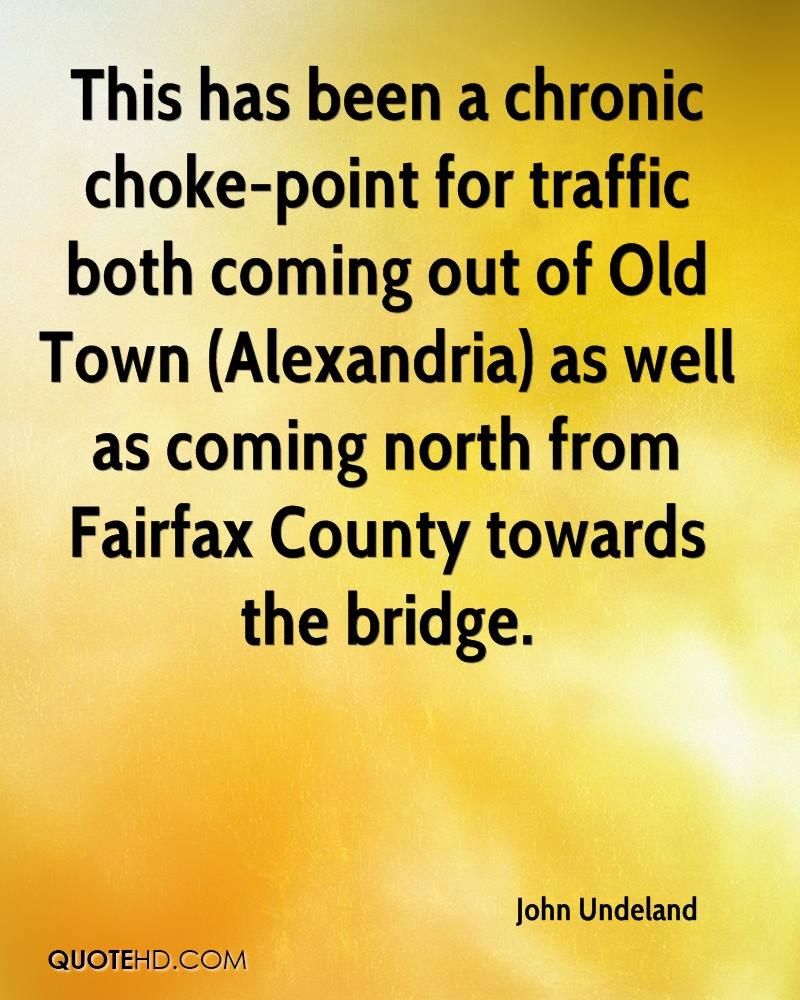 This has been a chronic choke-point for traffic both coming out of Old Town (Alexandria) as well as coming north from Fairfax County towards the bridge.